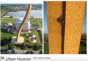 Highest human made rock climbing, Netherlands
