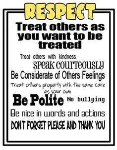 Respect Poster respect poster