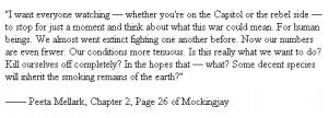 Peeta Mockingjay Quote by DamienHawk