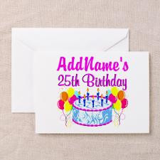 FABULOUS 25TH Greeting Cards (Pk of 10) for