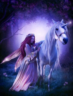 Fairy and Unicorn via Selene on Facebook