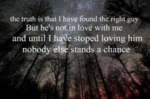forest, love, night, quote, sad, sky, stars, text, truth