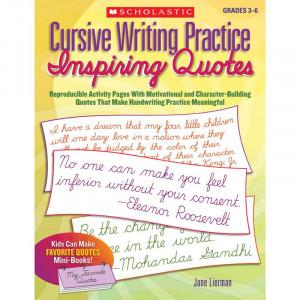 Cursive Writing Practice: Inspiring Quotes Book