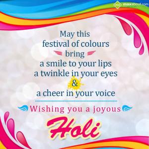 Holi Greetings - Festival of Colors