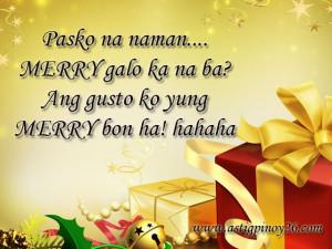 Christmas Tagalog Taglish Jokes