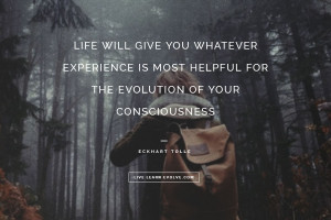 Life will give you whatever experience is most helpful for the ...