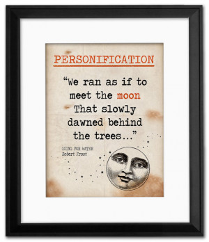 Going for Water Personification Quote, Educational Art Print featuring ...