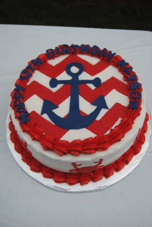 Free images about birthday Nautical Themed birthday cake picture and ...