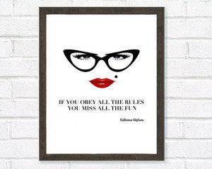 Quote Print, Katharine Hepburn Quote, Inspirational Art, Motivational ...