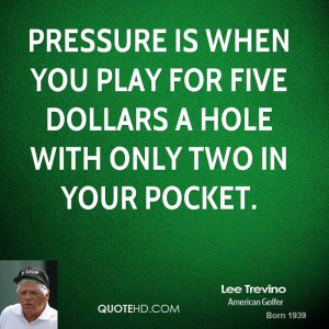 Lee Trevino Quotes