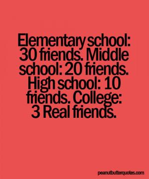 Elementary School 30 Friends, Middle School 20 Friends, High School 10 ...