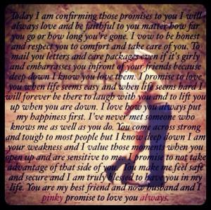 Wedding vow quotes to my Marine