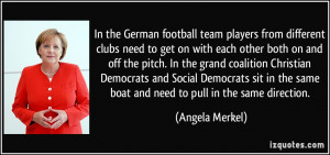 In the German football team players from different clubs need to get ...