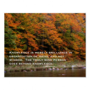 Fall Foliage River Inspirational Quote Poster