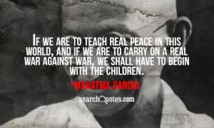 Mahatma Gandhi On Education Quotes