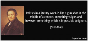 More Stendhal Quotes