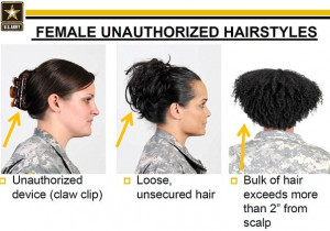 See unauthorized hairstyles after the cut