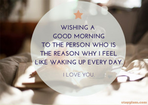 Good Morning Love Quote