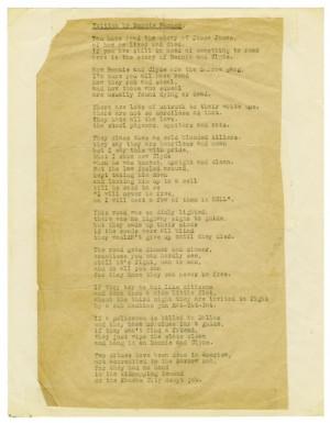 Poem by Bonnie Parker]