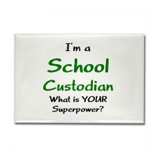 school custodian Rectangle Magnet for