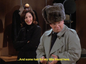 ... my little friend here. -Elaine Benes #Costanza #Seinfeld #SeinfeldTV