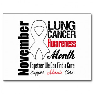 Together We Can Find a Cure - Lung Cancer Month Postcard