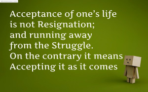 Acceptance Quotes About And
