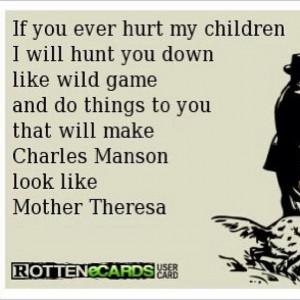 Don't hurt my kid