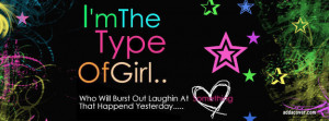 Im The Type Of Girl Facebook Cover