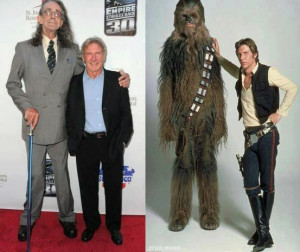 Peter Mayhew has a pretty bad ass cane! ( imgur.com )
