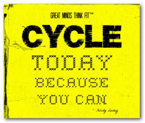 Cycling Poster in Yellow and Black