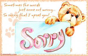 ... Say sorry and ask for an apology with the warm and lovely Sorry Cards