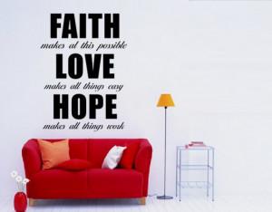 Faith , Love, Hope quote