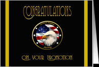 Military Congratulations Army Promotion - Flag & Eagle card - Product ...