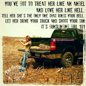 ... GirlsWithGunsCO Gun girl, country, girl with gun, cow girl, big truck
