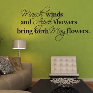 March April May Beautiful Poems Vinyl Wall Stickers Quotes And Sayings ...