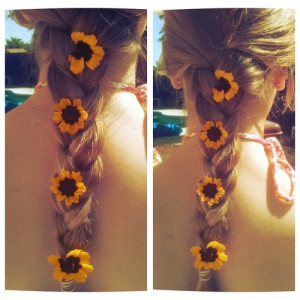 around my neck. #hair#blonde#flowers#photography#quote ...