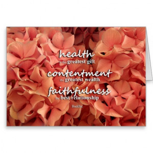 Health, Contentment and Faithfulness, Buddha Quote Cards