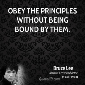 13 obey the principles without being bound by them