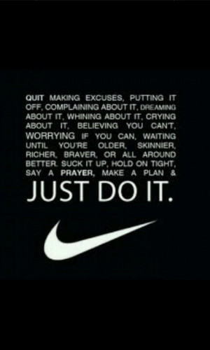 Nike has the best motivational workout quotes #Nike #workout #getfit # ...