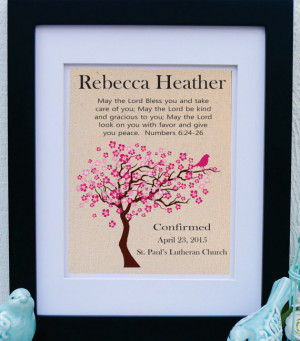 Confirmation Gift - Girls Confirmation - Godparent - Bible Verse ...