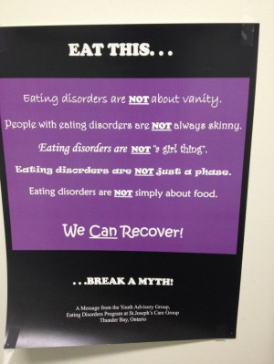 Eating disorder awareness. #edrecovery #eatingdisorders