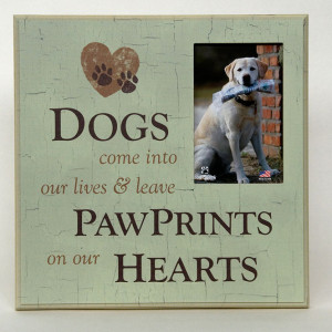 Dog Sympathy - Pawprints on Our Hearts Memorial Frame