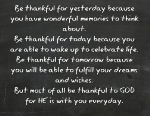 Being Thankful To God Quotes
