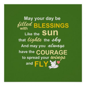 Irish Sayings About Family Irish blessing for courage