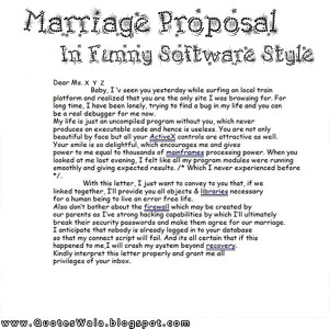 Quotes About Proposal Marriage
