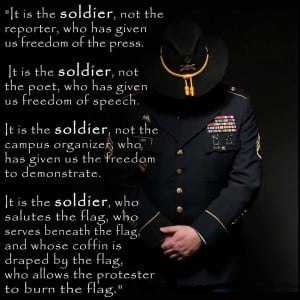 INSIGHTFUL MESSAGE (It Is The SOLDIER)