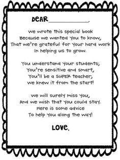 Goodbye Quotes For Teachers Student teacher goodbye book