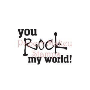 You rock my world, bare rubber sentiment