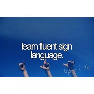 Sign Language Quotes Quote, sign language
